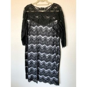 Calvin Klein Plus Size Black Lace Dress